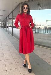 Платье красное Viravi Wear, модель 1022