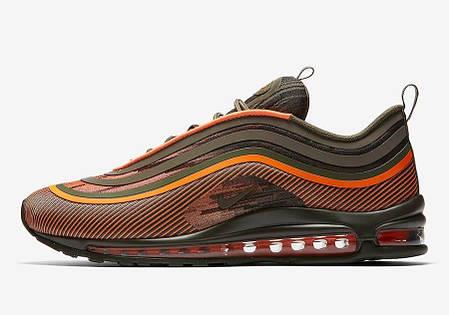 """Кроссовки Nike Air Max 97 Ultra 17 """"Olive/Orange"""" (Оливковые/Оранжевые), фото 2"""
