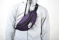 Яркая бананка сумка на пояс найк (Nike), текстиль реплика