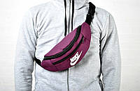 Мужская пояснаная сумка бананка найк (Nike), текстиль реплика