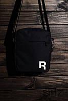 Спортивная сумка через плечо/мессенджер/барсетка рибок/Reebok, черная реплика