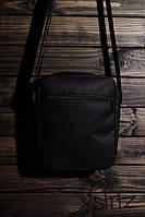 Молодежная сумка на плечо/мессенджер/барсетка, черная