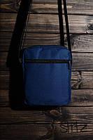Мужская/женская сумка через плечо/мессенджер/барсетка, синяя