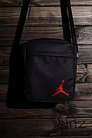 Мужская/женская сумка через плечо/мессенджер/барсетка майкл джордан/Jordan, черная
