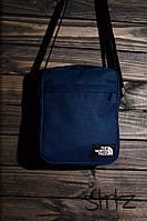 Мужская/женская сумка через плечо/мессенджер/барсетка норс фэйс/The North Face, синяя