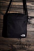 Мужская/женская сумка через плечо/мессенджер/барсетка норс фэйс/The North Face, черная