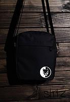Мужская/женская сумка через плечо/мессенджер/барсетка питбуль синдикат/Pitbull Syndicate, черная реплика, фото 1