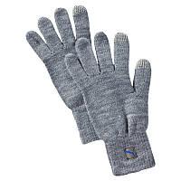 Перчатки спортивные PUMA Big Cat Knit Gloves 041269 02 (серые, акрил, повседневные, с логотипом пума)