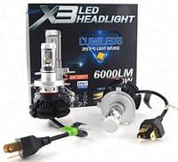 LED Лампа для фар Х3-Н4