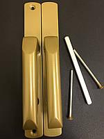 Гарнитур дверной Hermes золото (моноблок) ручки на планке-2шт+крепления
