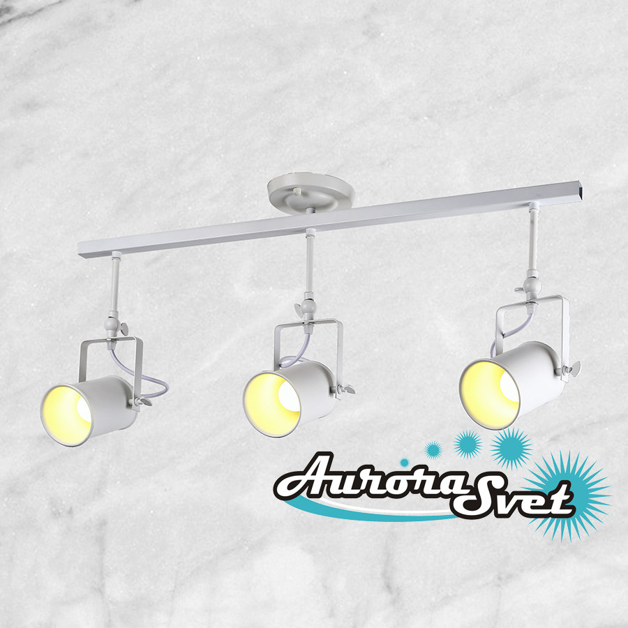 Светильник подвесной LOFT AS-180 белый. LED светильник. Светодиодный светильник.
