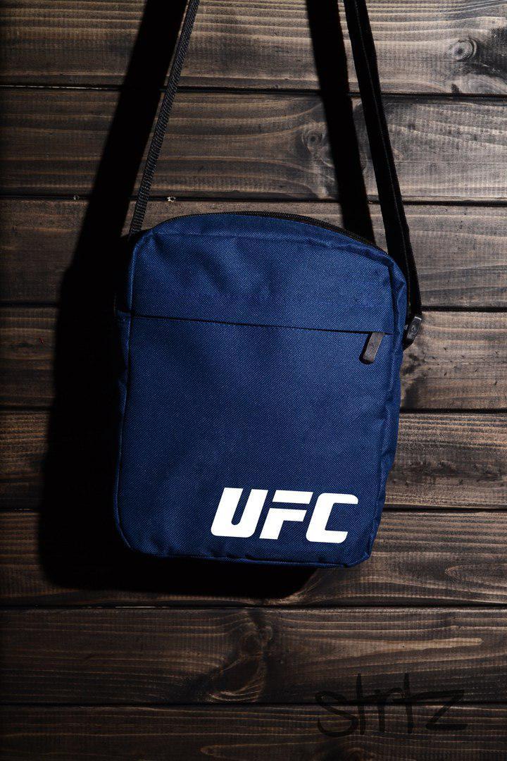 db8710ff084d Мужская спортивная сумка на плечо юфси/UFC синяя реплика -