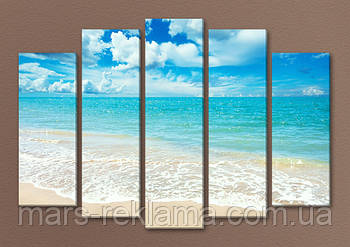 Модульная картина «Голубой океан»