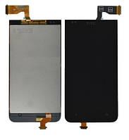 Дисплей (модуль) HTC Desire 300 с черным сенсором