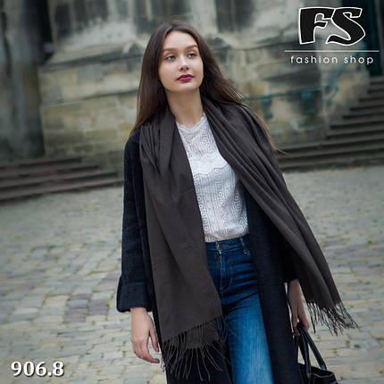 Женский коричневый шарф из пашмины, фото 2