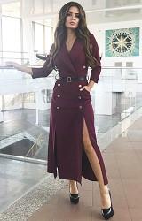 Платье бордовое Viravi Wear, модель 1021