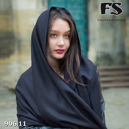 Чёрный шарф из пашмины, фото 2