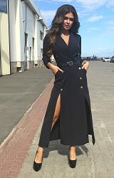 Платье черное Viravi Wear, модель 1021