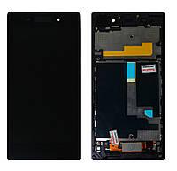 Дисплей (модуль) Sony Xperia Z1 C6902 L39H LT39 черный с рамкой