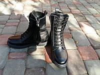 Ботинки мужские кожаные на шерсти (берцы)