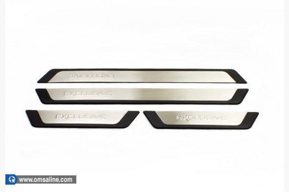 Накладки на пороги BMW 3 серия E-90-93 2005-2011 4 шт. (Exclusive - надпись)