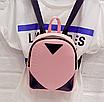 Рюкзак женский кожзам змеиный принт Розовый, фото 2
