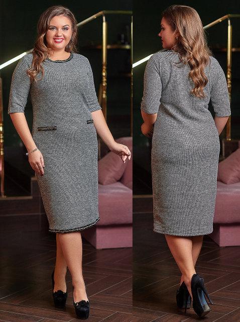 Платье Букле  БАТАЛ  1603903