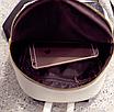 Рюкзак женский кожзам змеиный принт Бежевый, фото 7