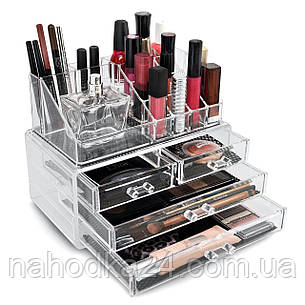 Настольный акриловый органайзер для косметики Cosmetic Storage Box на 4 ящика, фото 2