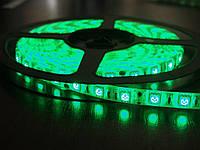 Светодиодная лента smd 5050 ip65 60д/метр влагозащита зеленый