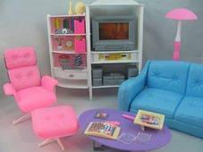 Мебель для Барби Gloria  2014 Гостиная для кукол. Яркий качественный пластик, фото 3