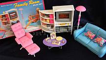Меблі для Барбі Gloria 2014 Вітальня для ляльок. Яскравий якісний пластик, фото 2