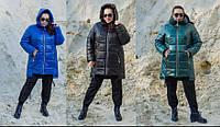 Зимняя куртка удлиненная для пышных женщин, с 42 по 82 размер, фото 1