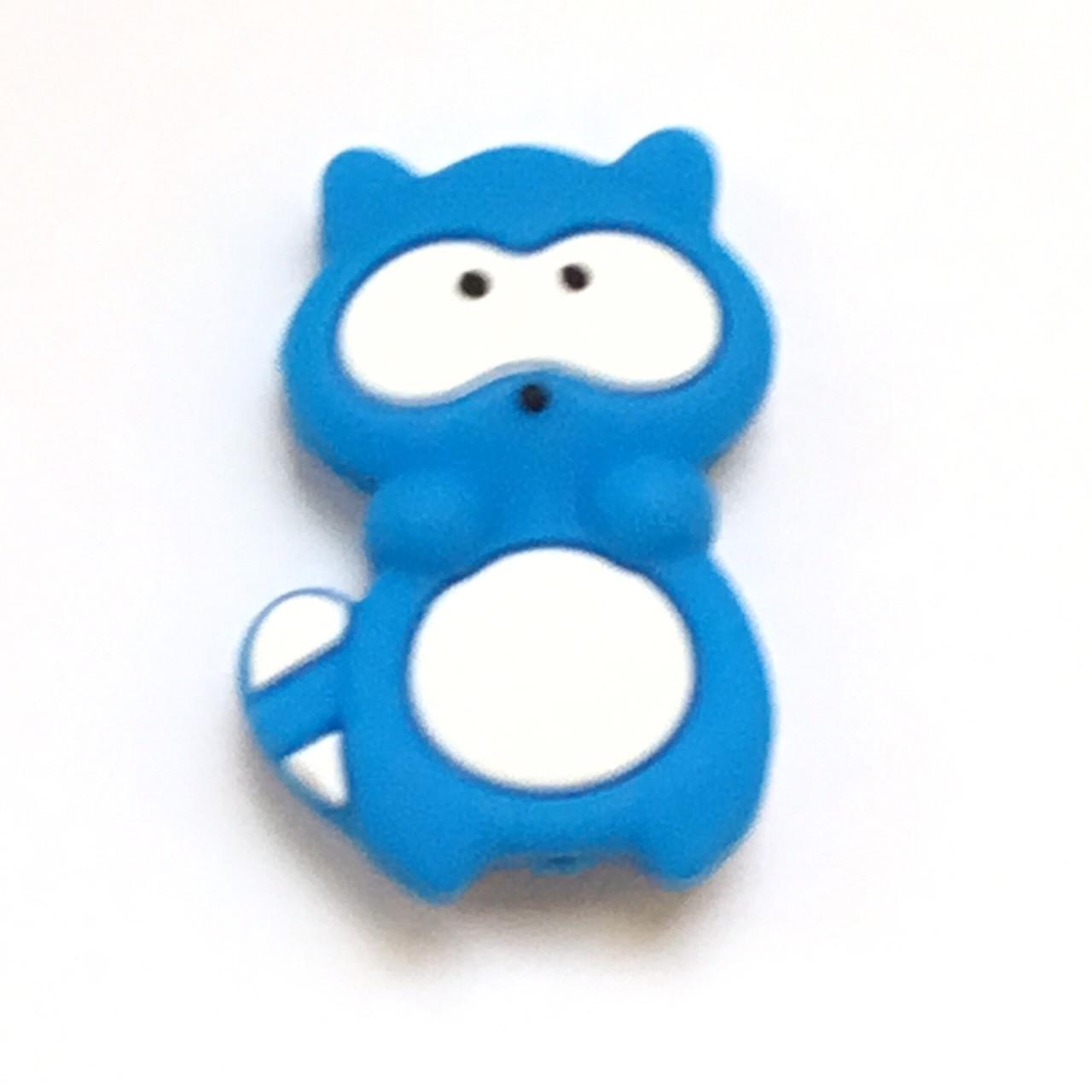 Енотик бусина (голубой) силиконовая бусина