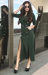 Платье зеленое Viravi Wear, модель 1021