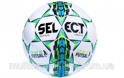 Мяч футзальный №4 SELECT FUTSAL MIMAS (FPUS 1300, белый-синий-зеленый)