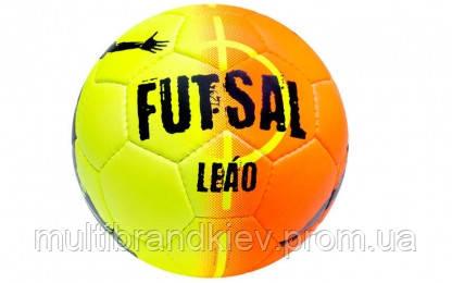 Мяч футзальный №4 SELECT FUTSAL LEAO (FPVC 1100, оранжевый-желтый)