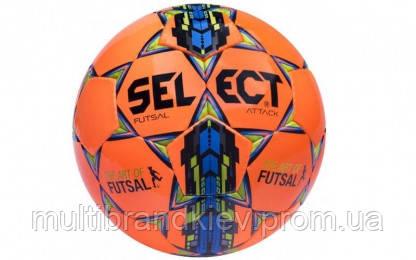 Мяч футзальный №4 SELECT FUTSAL ATTACK (FPUG 1100, оранжевый-синий-желтый)