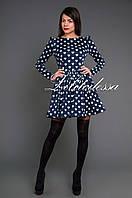 Платье с сердечками темно-синий, фото 1