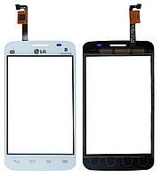Сенсор LG E445 Optimus L4 Dual SIM белый