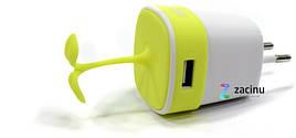 Зарядний пристрій Remax RP-U27 Sapling ser. 2.4A  Жовтий