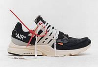 """Кроссовки мужские Nike Air Presto the Ten """"Черные с белой подошвой"""" р. 41-43, фото 1"""
