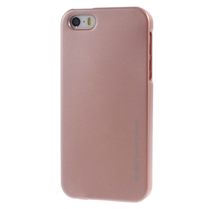 Чохол-накладка Mercury для iPhone 5/5S/SE iJelly Metal ser. TPU Rose Gold(288834)
