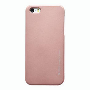 Чохол-накладка Mercury для iPhone 5/5S/SE iJelly Metal ser. TPU Rose Gold(288834), фото 2