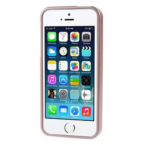 Чохол-накладка Mercury для iPhone 5/5S/SE iJelly Metal ser. TPU Rose Gold(288834), фото 2
