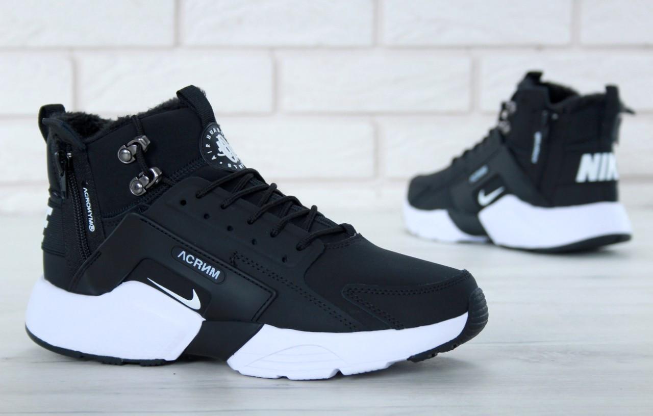 meet 16a8b 21349 Nike Huarache x Acronym City Winter Black White | кроссовки мужские и  женские; с мехом; черно-белые; зимние - Bigl.ua