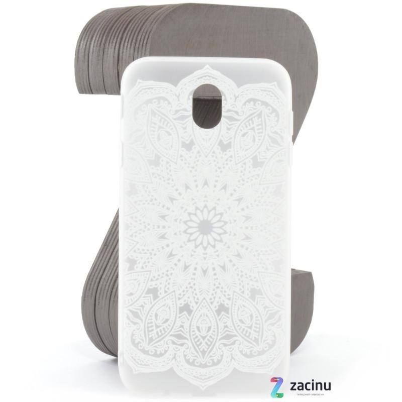 Чехол накладка для Samsung J530F Galaxy J5 (2017) Soft touch ser. Узор Бело матовый