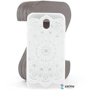 Чехол накладка для Samsung J530F Galaxy J5 (2017) Soft touch ser. Узор Бело матовый, фото 2