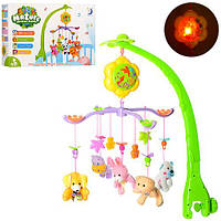 Детская музыкальная карусель (мобиль) на кроватку 602-18,(80 мелодий) с мягкими игрушками-подвесками