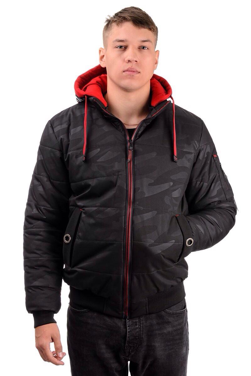 Мужская зимняя  куртка, цвет черный, размеры 44 - 54